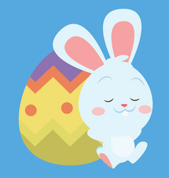 collection of easter egg style with bunny vector image
