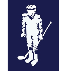 Hockey Player Mascot Silhouette vector image vector image