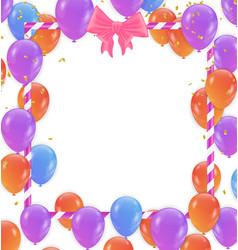 holiday background with balloonscelebration vector image