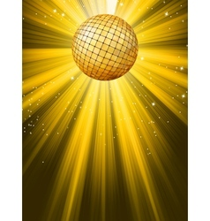 party banner with disco ball vector image