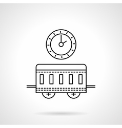 Time to travel flat line icon vector image