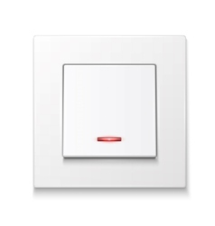 White wall switch with illumination vector image vector image