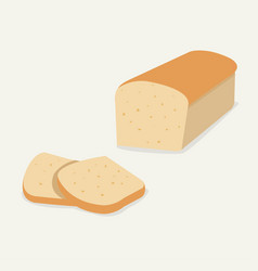whole wheat bread flat bread loaf vector image