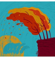 Background autumn forest vector