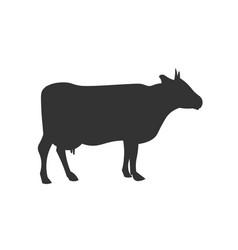 cow black silhouette design vector image
