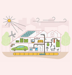 eco friendly home infographic vector image