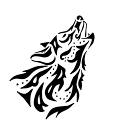 High quality Wolf tattoo vector image vector image