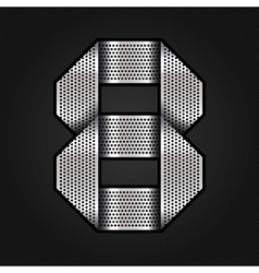 Number metal chrome ribbon - 8 - eight vector image vector image