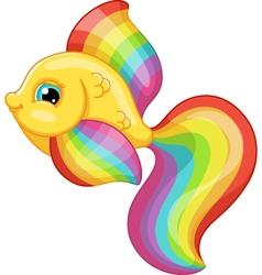 rainbow fish vector image vector image