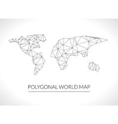 World map background in polygonal 3d style Modern vector image