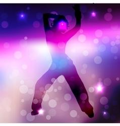 a dancing girl vector image