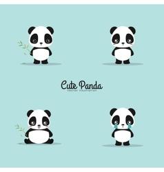 Abstract cute pandas vector