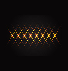 abstract gold light line cross pattern on black vector image