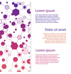 abstract honeycomb flyer template vector image