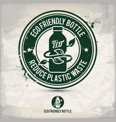 alternative eco bottle stamp vector image