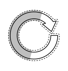 Arrow round cycle vector image