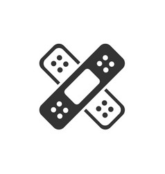 band aid icon medicine care vector image