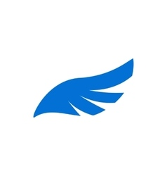 Blue angel wing icon simple style vector