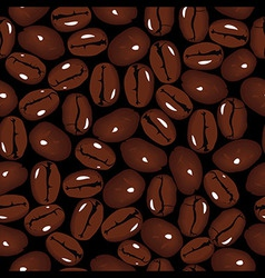 Coffee seamless beans vector