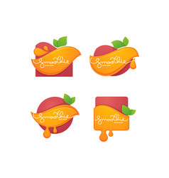 collection bright and shine stickers emblems vector image
