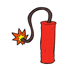 Comic cartoon dynamite vector