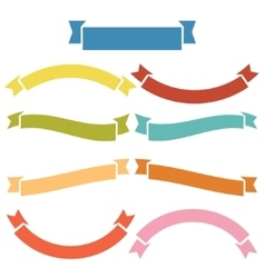Complete of banners and ribbons vector image