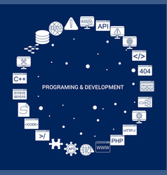 Creative programming and developement icon vector