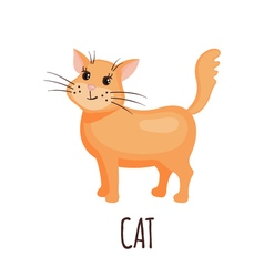 Cute cat in style vector image