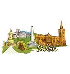 Dublin doodles vector