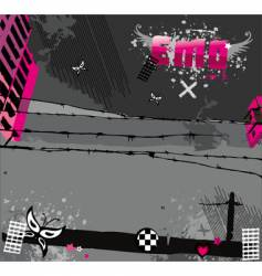 Emo background vector