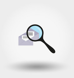 envelope with a letter under a magnifying glass vector image
