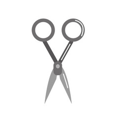 Gray medical scissors tool surgery accessory vector
