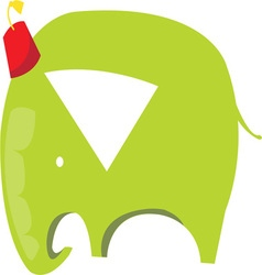 Green Elephant vector