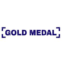 grunge textured gold medal stamp seal inside vector image