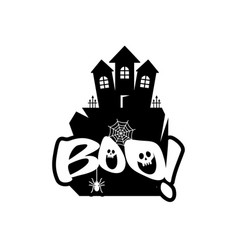 halloween boo design with typography vector image
