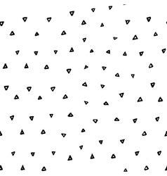 Hand drawn seamless pattern with triangles vector image
