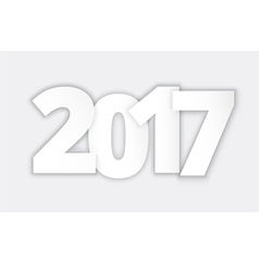 Happy 2017 new year paper vector
