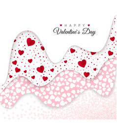 happy valentines day holiday decoration elements vector image