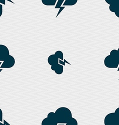Heavy thunderstorm icon sign Seamless pattern with vector image