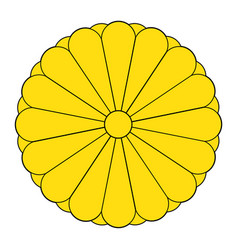 imperial seal japan or national emblem vector image