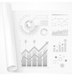 Infographic elements in grey vector image