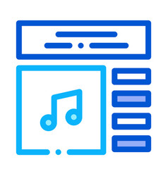 internet music play list icon outline vector image