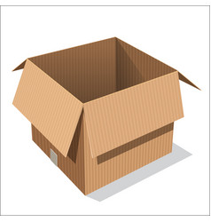 isolated open box vector image
