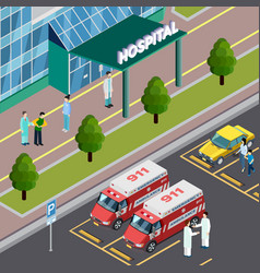 Isometric hospital neighbourhood composition vector