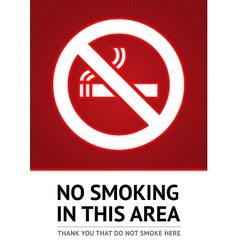 Label No smoking sticker vector
