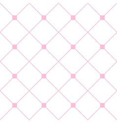 Light Pink Square Diamond Grid White Background vector image