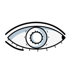 Line heath eye vision and optical care vector