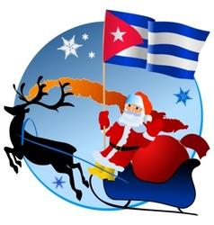 Merry Christmas Cuba vector image