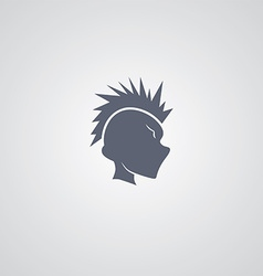 Mohawk guy logotype vector