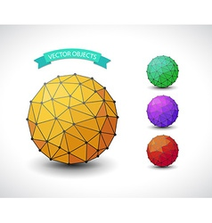 Molecular sphere set vector image vector image